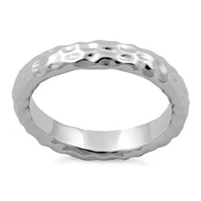 Load image into Gallery viewer, Sterling Silver 4mm Hammered Ring