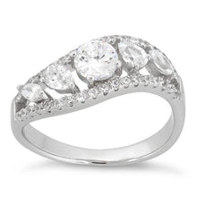 Load image into Gallery viewer, Sterling Silver 5 CZ Stones Ring