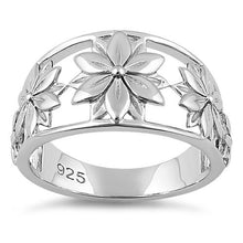 Load image into Gallery viewer, Sterling Silver 5 Flowers Ring