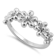 Load image into Gallery viewer, Sterling Silver 5 Plumeria Ring