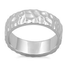 Load image into Gallery viewer, Sterling Silver 6mm Hammered Ring