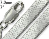 "Load image into Gallery viewer, Sterling Silver 7"" Magic Herringbone Chain Bracelet - 7.0MM"