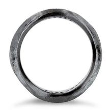 Load image into Gallery viewer, Sterling Silver Abstract Oxidized CZ Ring