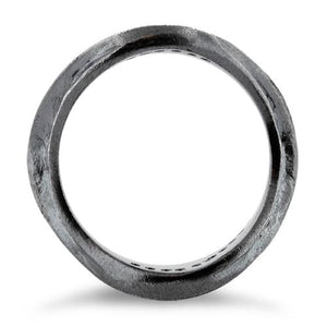 Sterling Silver Abstract Oxidized CZ Ring