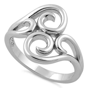 Sterling Silver Abstract Vines Ring