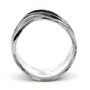 Sterling Silver Abstract Wave Ring