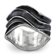Load image into Gallery viewer, Sterling Silver Abstract Wave Ring