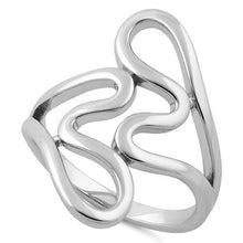 Load image into Gallery viewer, Sterling Silver Abstract Wriggle Ring
