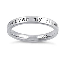 "Load image into Gallery viewer, Sterling Silver ""Always my mother, forever my friend"" Ring"