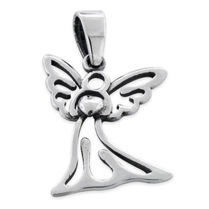 Sterling Silver Angel Heart Pendant