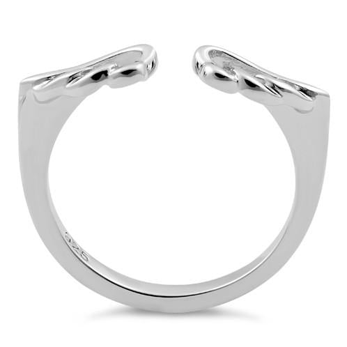 Sterling Silver Angel Wings Ring