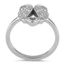 Load image into Gallery viewer, Sterling Silver Angel Wings with Heart Ring