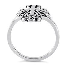 Load image into Gallery viewer, Sterling Silver Antique Cross Ring