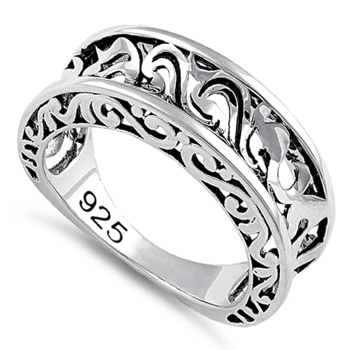 Sterling Silver Antique Wavy Ring