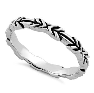 Sterling Silver Arrows Ring