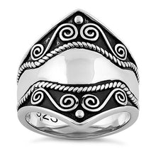 Load image into Gallery viewer, Sterling Silver Artisan Bali Ring