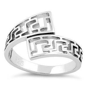 Sterling Silver Aztec Pattern Ring
