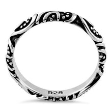 Load image into Gallery viewer, Sterling Silver Bali Band Ring