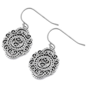 Sterling Silver Bali Dangle Earrings