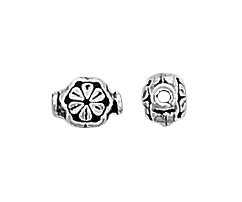 Sterling Silver Bali Style Bead Flower Pendant 9mm - Pack of 2