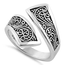 Load image into Gallery viewer, Sterling Silver Bali Swirl Ring