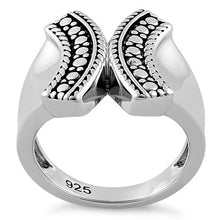 Load image into Gallery viewer, Sterling Silver Bali X Ring