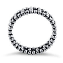 Load image into Gallery viewer, Sterling Silver Bead Eternity Ring