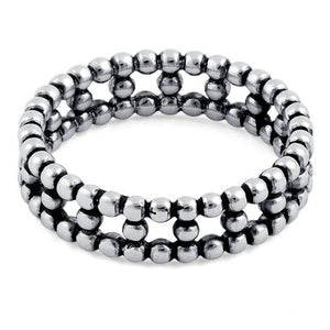 Sterling Silver Bead Eternity Ring