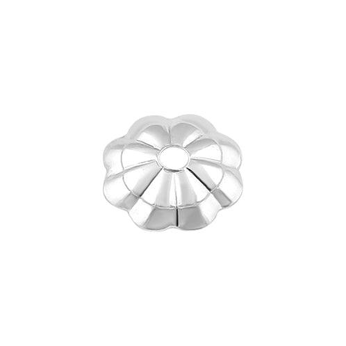 Sterling Silver Bead Flower Cap 5mm - PACK OF 12