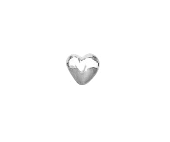 Sterling Silver Bead Heart 5mm - PACK OF 2