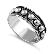 Load image into Gallery viewer, Sterling Silver Beaded Bali Design Ring