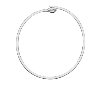 Sterling Silver Beading Hoop 20mm - PACK OF 10