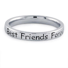 "Load image into Gallery viewer, Sterling Silver ""Best Friends Forever"" Ring"