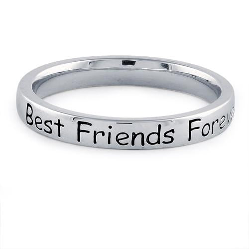 "Sterling Silver ""Best Friends Forever"" Ring"