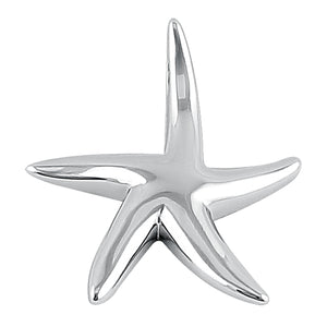 Sterling Silver Big Starfish Pendant