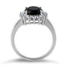 Load image into Gallery viewer, Sterling Silver Black Oval CZ Ring