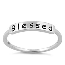 "Load image into Gallery viewer, Sterling Silver ""Blessed"" Ring"