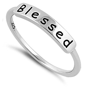"Sterling Silver ""Blessed"" Ring"