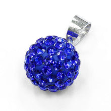 Load image into Gallery viewer, Sterling Silver Blue CZ Ball Pendant