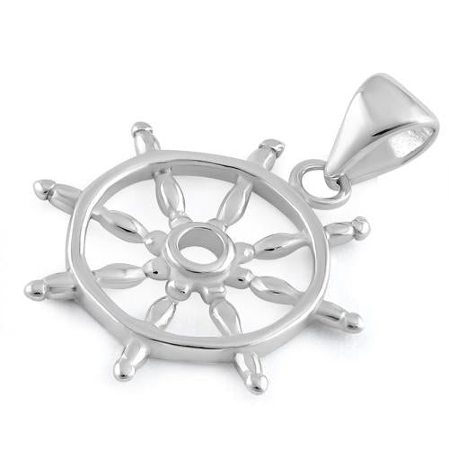 Sterling Silver Boat Helm Pendant