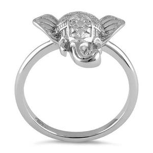 Sterling Silver Boho Elephant Head Ring