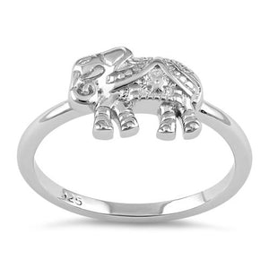 Sterling Silver Boho Elephant Ring