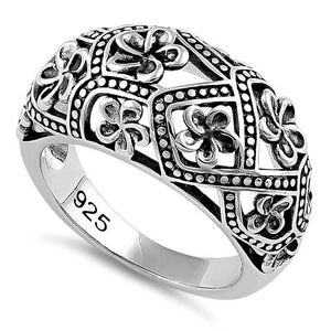 Sterling Silver Bold Flowers Ring