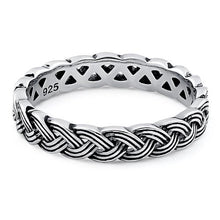 Load image into Gallery viewer, Sterling Silver Braid Eternity Band