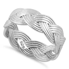 Load image into Gallery viewer, Sterling Silver Braided Band Ring