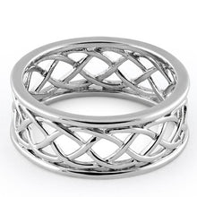 Load image into Gallery viewer, Sterling Silver Braided Eternity Band
