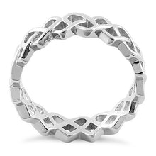 Load image into Gallery viewer, Sterling Silver Braided Hearts Eternity Ring