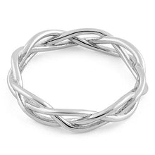 Load image into Gallery viewer, Sterling Silver Braided Ring