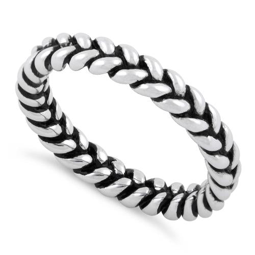 Sterling Silver Braided Stacklable Ring