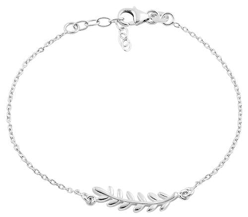 Sterling Silver Branch Leaves Bracelet